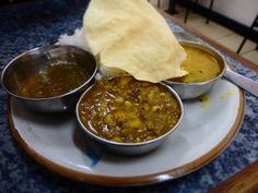 vegetable curry and roti in Chillies!