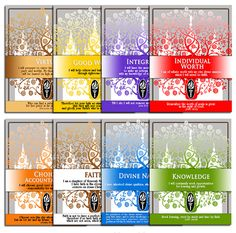 PRINTABLES - All 8 Beautiful LDS Temple Designs - YW Values Personal Progress ---etsy
