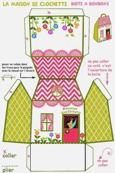 Caja de casita de Campanilla para Imprimir Gratis.   Ideas y material gratis para fiestas y celebraciones Oh My Fiesta!