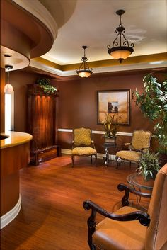 Dental office reception area
