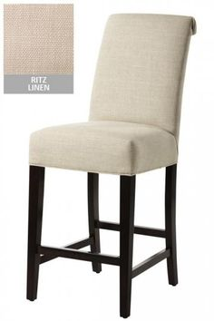 Linen barstool from Home Decorators for breakfast bar