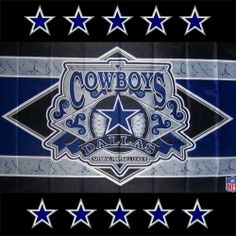 Officially Licensed Dallas Cowboys Flag dyed in brilliant authentic team colors The flags are finished with white canvas headings and strong brass grommets Hang it on a wall or fly it on a flagpole Standard size 3 feet X 5 feet Dallas Cowboys Football, Dallas Cowboys Pictures, Cowboys 4, Nfl Football Teams, Football Crafts, Football Stuff, Sports Teams, Cowboy Images, Cowboy Pictures