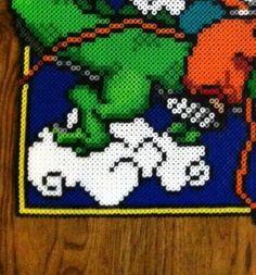 plantilla del cuadro de son goku dragon ball nº 3 hama beads