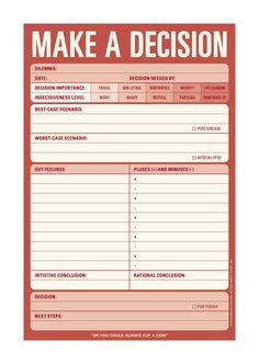 $6.12 on Oct. 2014. Pad: Make a Decision: Knock Knock: 9781601061645: Amazon.com: Books