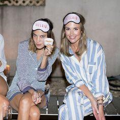 Alexa Chung hosts pajama party