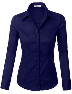 Looking for Womens Tailored Long Sleeve Button Down Shirt Stretch ? Check out our picks for the Womens Tailored Long Sleeve Button Down Shirt Stretch from the popular stores - all in one. Work Shirts, Button Up Shirts, Work Attire, Work Outfits, Office Attire, Teacher Outfits, Office Wear, Professional Outfits, Shirt Blouses