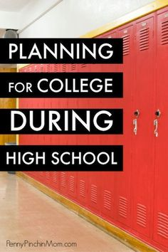Planning & Saving For College During High School I think we can all agree that it feels like time flies. If you have high school students, college will be here before you know it! Here are some tips for how to plan for college while your kids are still in Saving For College, College Planning, Online College, College Tips, College Essay, College Savings, College Checklist, College Fun, Financial Planning