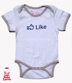 LIKE baby onesie by SugarBabyLove on Etsy, $17.00