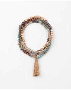 Wrap Beaded Tassle Bracelets