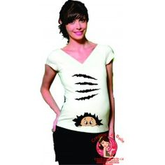 CHANDAIL DE MATERNITÉ DÉCHIRE FILLE OU GARCON 246 Funny Maternity, Funny Pregnancy Shirts, Pregnancy Humor, Peek A Boos, T Shirts For Women, Fashion, Funny Pregnancy, Guys, Boutique Online Shopping