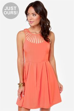 LuLu*s LULUS Exclusive Cage-ean Sea Coral Dress on shopstyle.com