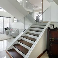 Pictures of lucite crystal and glass - Bannister of glass-modern staircase.jpg