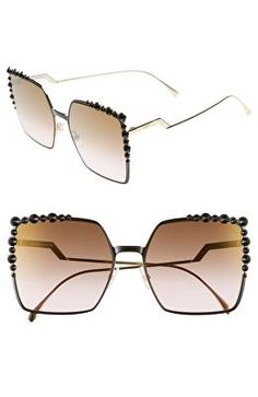 fb175a5f1ca FENDI Designer 60mm Gradient Square Cat Eye Sunglasses