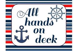 Nautical Classroom Jobs and Helpers