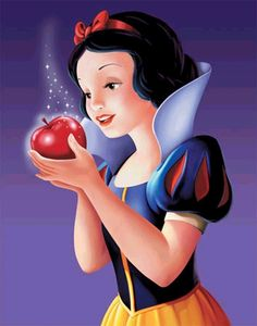 """20 Day Disney Princess Challenge Day 2: The princess you like least - Snow White. I do like some things about her - like how she always tries to be kind, helpful, graceful, and never cause a problem, but she's also very naive and a lot of times I look at her and go """"Really? You really think it's a good idea to take that apple from that sketchy looking old lady, really?"""""""