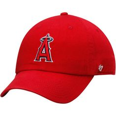Los Angeles Angels of Anaheim  47 Red Clean Up Dad Hat 06087d3bd