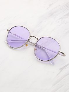 Shop Tinted Flat Lens Sunglasses at ROMWE, discover more fashion styles online. The Purple, Pastel Purple, Shades Of Purple, Violet Aesthetic, Lavender Aesthetic, Stylish Sunglasses, Sunglasses Women, Sunglasses Online, Lila Party