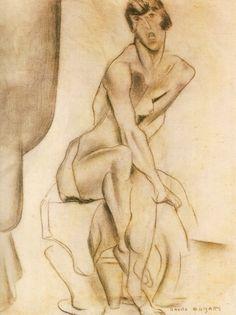 Nu Feminino Sentado (1915-1916) by Anita Malfatti