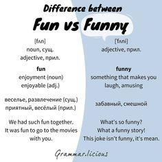 Разница между FUN и FUNNY. english английский язык vocabulary word of the day  #english #английскийязык  #vocabulary #wordoftheday
