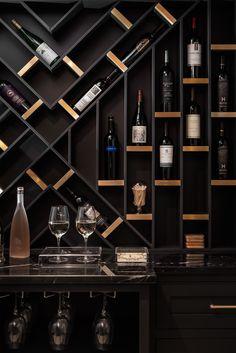 Anni e bicchieri di vino non si contano mai = Age and glasses of wine should never be counted. We're pretty sure our homeowner would agree… Wine Rack Design, Wine Cellar Design, Wine Cellar Modern, Modern Wine Rack, Home Bar Rooms, Home Bar Decor, Bar Home, Home Wine Bar, Home Wine Cellars