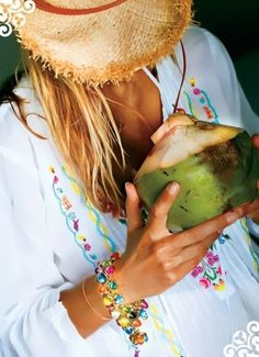 We will drink only out of coconuts at Boho Beach.