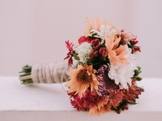 Wedding bouquet. Garden Wedding. Summer wedding bouquet. Colorful bouquet.