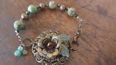 jasper flower bracelet www Hellorae.com
