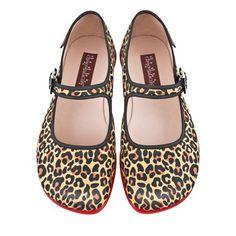 Hot Chocolate Design Chocolaticas Leopard Women's Mary Jane Flat Multicoloured US Size: 9