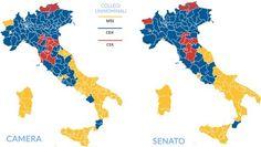 I nuovi colori dell'Italia. Dal rosso di sinistra all'azzurro targato Salvini, al giallo 5S. Conseguenze saranno profonde di MARIO CALABRESI