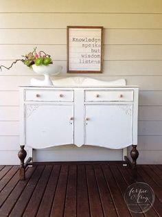 Buffet painted by Ferpie and Fray in General Finishes Antique White