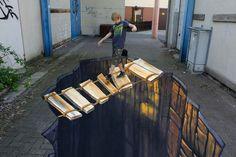 Jaw-Dropping 3D Sidewalk Art