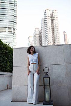 Karla Deras - All white - Karlas closet Karla Deras, Style Me, Cool Style, Looks Pinterest, Look Fashion, Womens Fashion, Street Style, Mode Inspiration, Athleisure