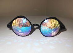 KALEIDSOCOPE PRISM CRYSTAL GLASSES FUTURE EYES RAINBOW