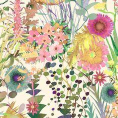 Liberty Tana Lawn tissu Tresco F un jardin lumineux été Multi Floral