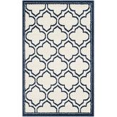 Found it at Wayfair - Amherst Ivory/Navy Outdoor Area Rug