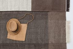 Zoom in to our new Chocolate colour of TRES rug collection.