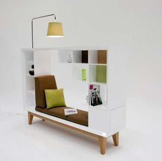 Compact Reading Nooks - A Simple, Space-Saving 'Library' by Guy Eddington (GALLERY)