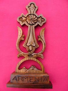 Armenian Cross Hand Made walnut Wood from ARMENIA by bkoproff, $14.00
