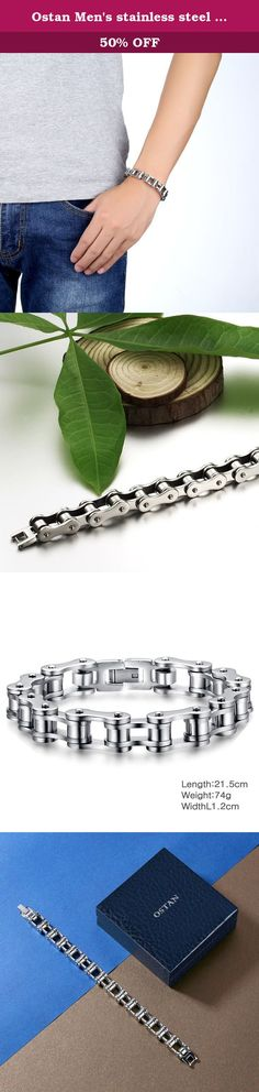 Ostan Men's stainless steel Chain Link Bracelet Bike wrist. Life is too short, so we should show our charm Wear Ostan men's stainless steel bracelet, you will become more young and fashionable, in a confident way of life, Ostan will bring you a smooth career, harmonious family, Ostan focus on male jewelry brand Why worth this price OSTAN each product is the workers to carefully check the appearance of whether damaged, necklace is solid, zircon is tightly integrated, the good quality and…