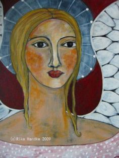 Angel Woman Folk Art Rika Handke
