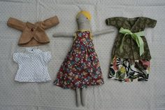 this is so sweet.....doll with clothes