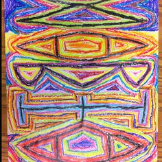4th grade art project, symmetrical name designs