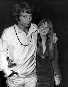 "Jim Morrison and his common-law wife, muse, ""cosmic mate"" and, in Jim's words, his ""only companion in life"" Pamela Courson-Morrison Pamela Courson, Jim Pam, The Doors Jim Morrison, Kings Of Leon, Nikki Sixx, Neil Young, Kendrick Lamar, Indie Music, Funny Movies"