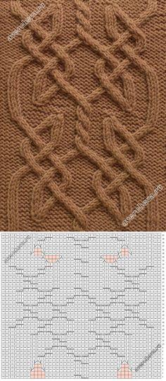 кельтский узор спицами | каталог вязаных спицами узоров | вязание | Постила