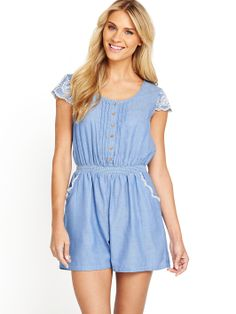 Shop online for free UK delivery & returns for over products including womens & mens clothing. Pin Tucks, Playsuit, Chambray, Buy Now, Online Shopping, Kids Outfits, Rompers, Holiday, Casual
