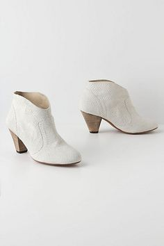 possible chapel shoes for wedding?  Ophidian Booties #anthropologie
