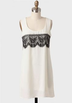 Palais Garnier Lace Detail Shift Dress | Modern Vintage Dresses | Modern Vintage Clothing
