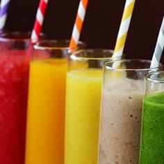 Weekful of Smoothies! Here's to your health!