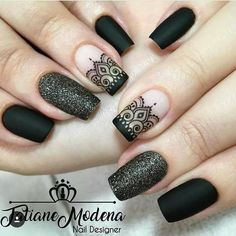 What Christmas manicure to choose for a festive mood - My Nails Perfect Nails, Gorgeous Nails, Pretty Nails, Hair And Nails, My Nails, Mandala Nails, Lace Nails, Lace Nail Art, Stylish Nails