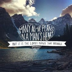 Many are the plans in the mind of a man, but it is the purpose of the Lord that will stand. - Proverbs 19:21 (ESV)